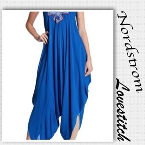 Lovestich embroidered Harem v neck jumpsuit